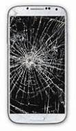 Broken Samsung Galaxy Smartphone