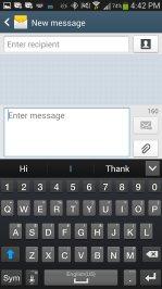 Cricket Samsung Galaxy S4 Built-In Keyboard