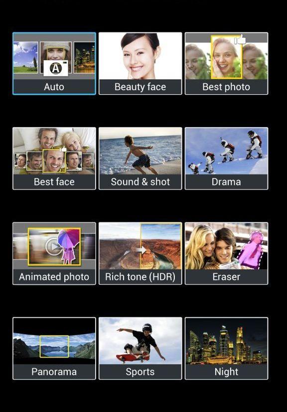 Cricket Samsung Galaxy S4 Camera Modes